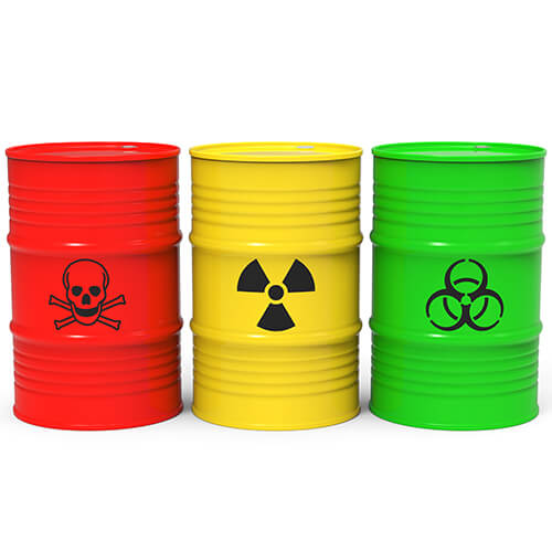 red, yellow and green barrel drums